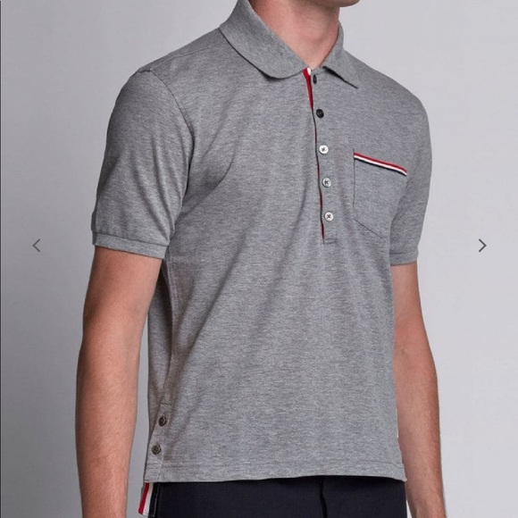 cd7c915a Thom Browne Shirts   Short Sleeve Polo Shirt   Poshmark